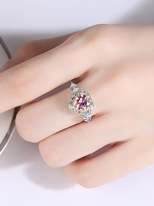 CCUI 925 Sterling Silver Cubic Zirconia Geometric Dainty Band Ring 1
