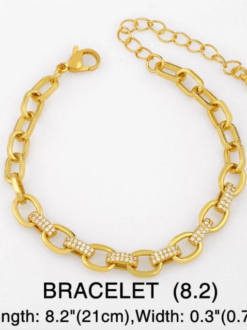 Bracelet Brass Hollow Geometric Minimalist Necklace