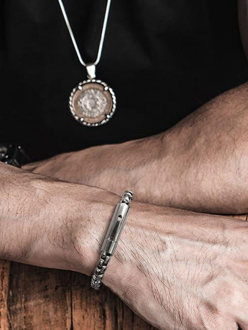 CONG Stainless steel Irregular Vintage Link Bracelet 4