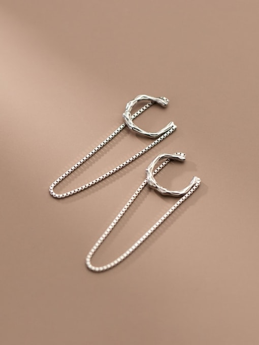 Rosh 925 Sterling Silver Geometric Minimalist Threader Earring 3