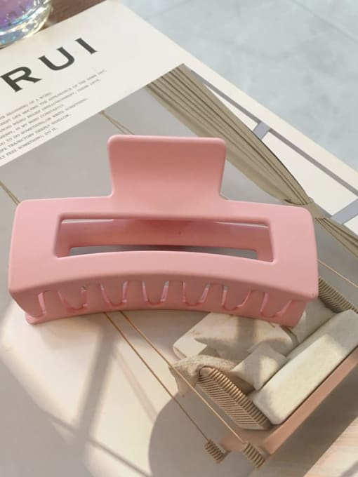 Rose Rose Pink Cellulose Acetate Minimalist Geometric Jaw Hair Claw