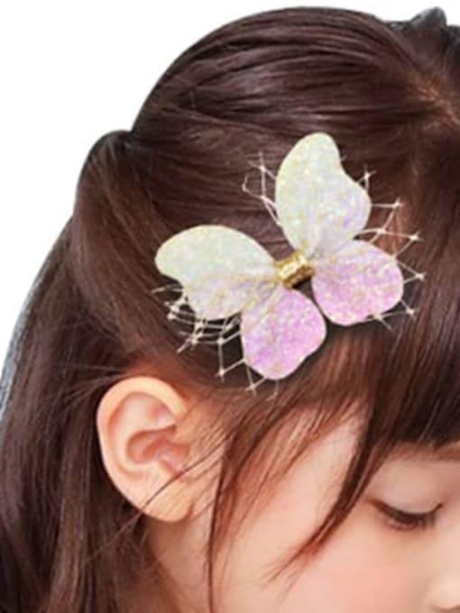 YOKI KIDS Alloy Fabric Cute Bowknot Multi Color Hair Barrette 1