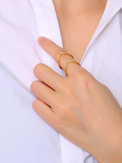 CONG Titanium Steel Geometric Minimalist Band Ring 1