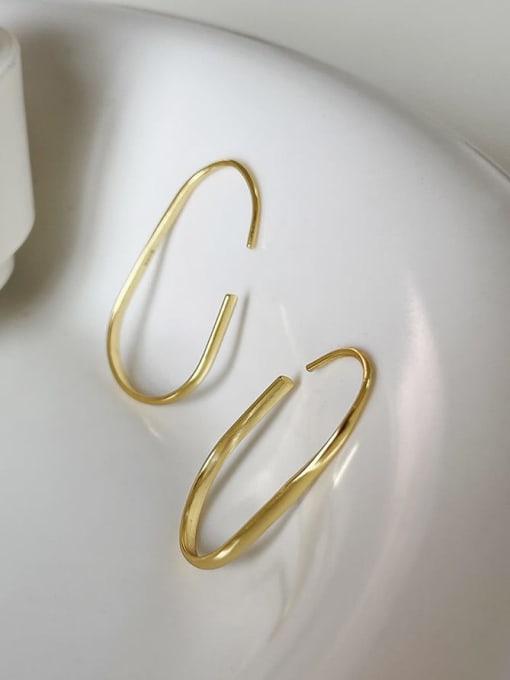 Boomer Cat 925 Sterling Silver Geometric Minimalist Hook Earring