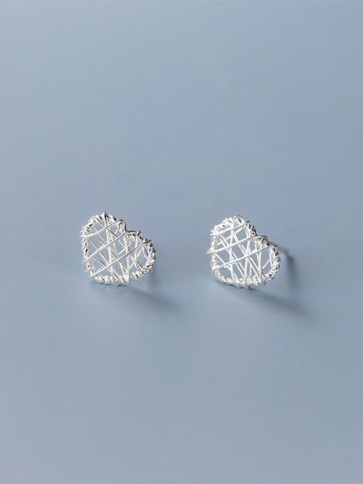 love 925 Sterling Silver Geometric Minimalist Stud Earring