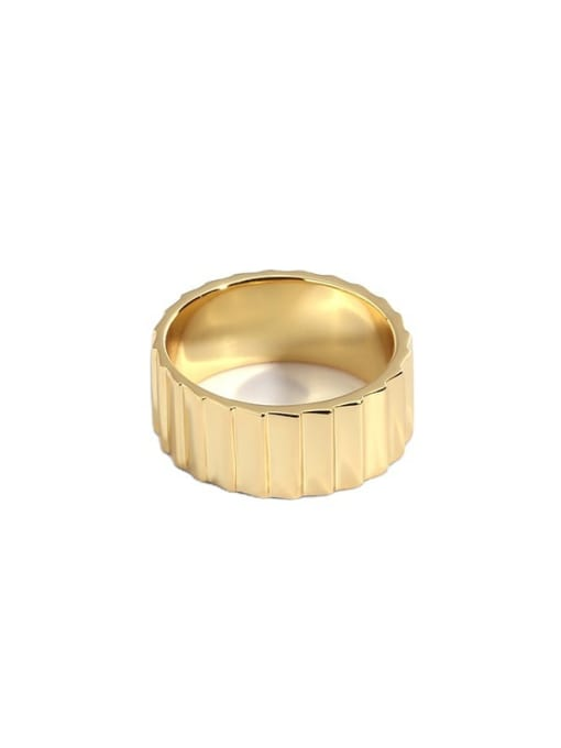 CHARME Brass Round Vintage Band Ring 3