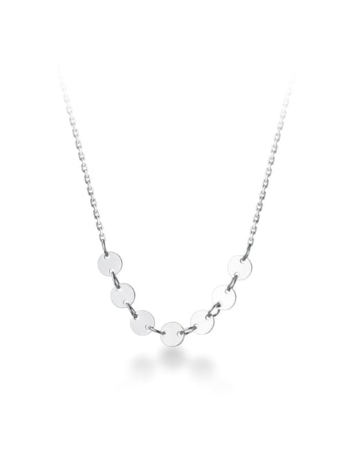 Rosh 925 Sterling Silver Geometric Minimalist Simple small circle Necklace 3