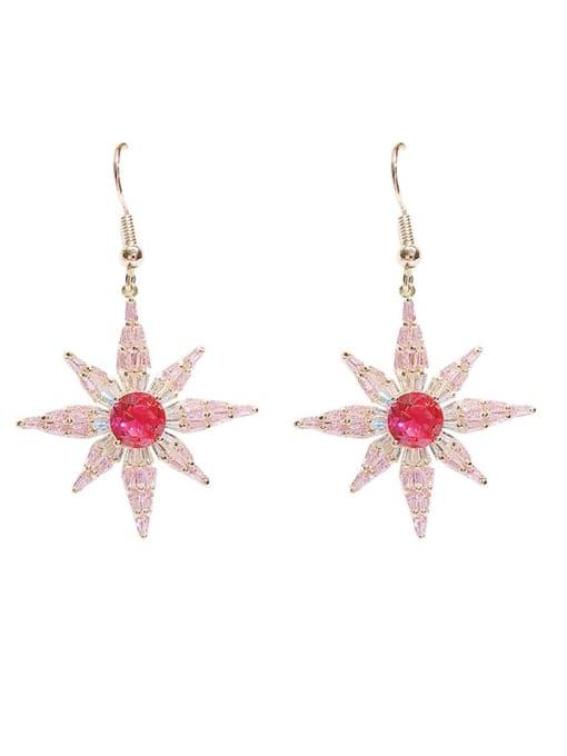 Luxu Brass Cubic Zirconia Star Minimalist Hook Earring 3