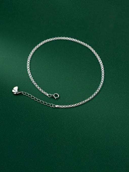 Rosh 925 Sterling Silver Hollow Irregular Minimalist Link Bracelet