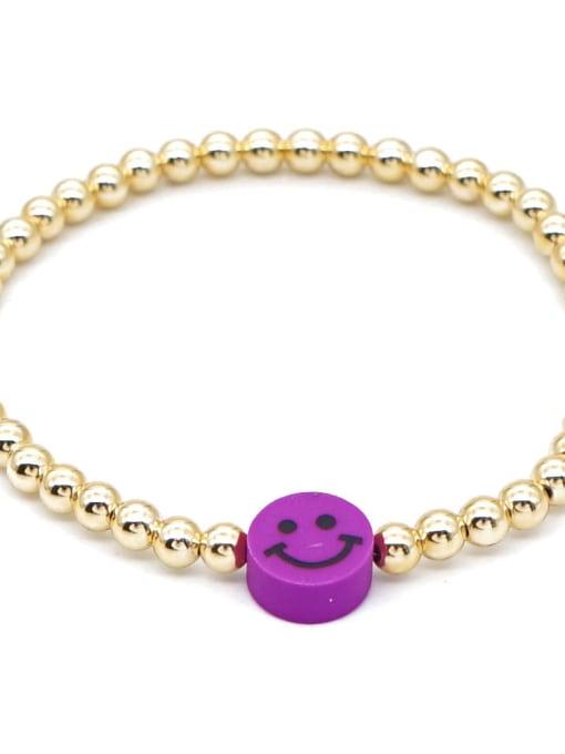 Roxi Stainless steel Polymer Clay Smiley Bohemia Beaded Bracelet 3