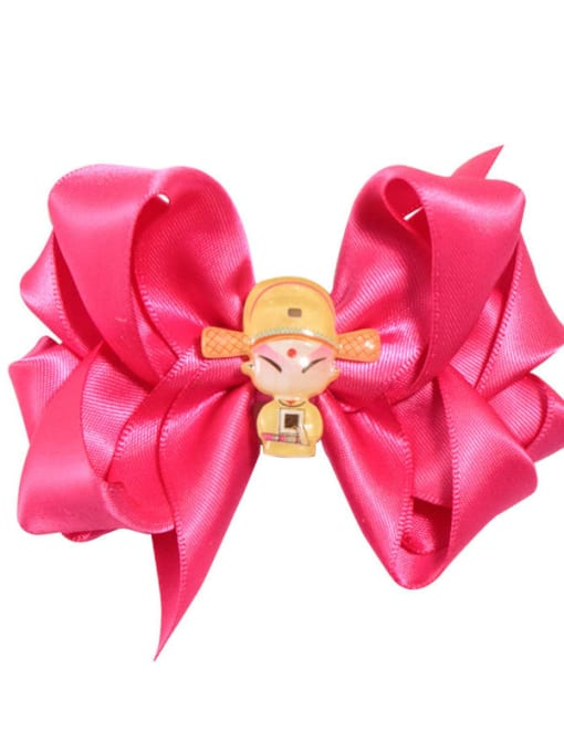 8 light red champion Alloy  Fabric Cute Bowknot Multi Color Hair Barrette
