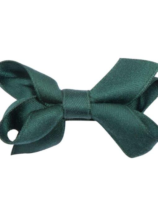 9 dark Emerald Alloy Fabric Cute Bowknot  Multi Color Hair Barrette