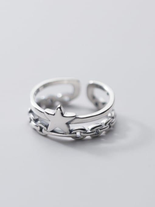 Rosh 925 Sterling Silver Star Vintage Stackable Ring 2