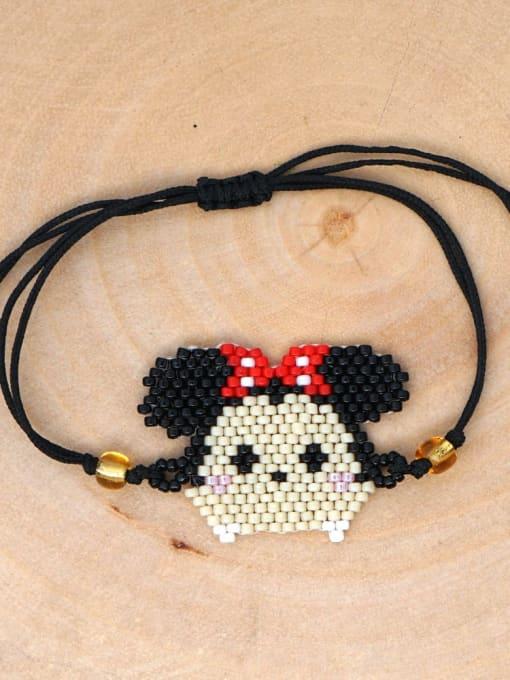 Roxi Stainless steel miyuki Bead Icon Bohemia Adjustable Bracelet