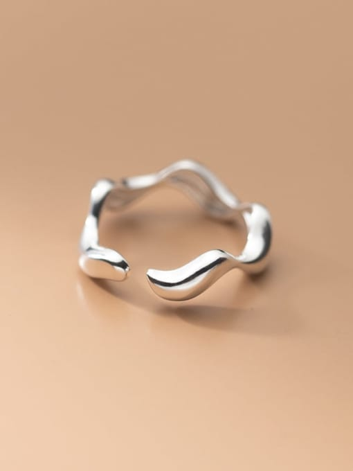 Rosh 925 Sterling Silver Smooth Heart Minimalist Band Ring 2