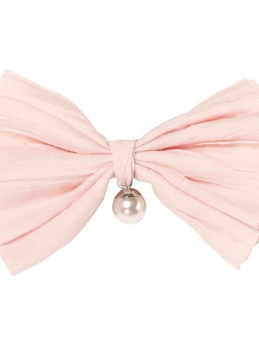 1 pink light Alloy Cotton Cute Bowknot  Multi Color Hair Barrette