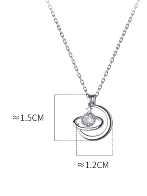 Rosh 925 Sterling Silver Rhinestone Irregular Minimalist Necklace 3