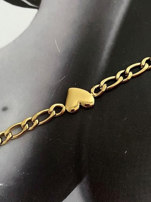 A TEEM Titanium Steel Heart Hip Hop  Hollow Chain Necklace 0