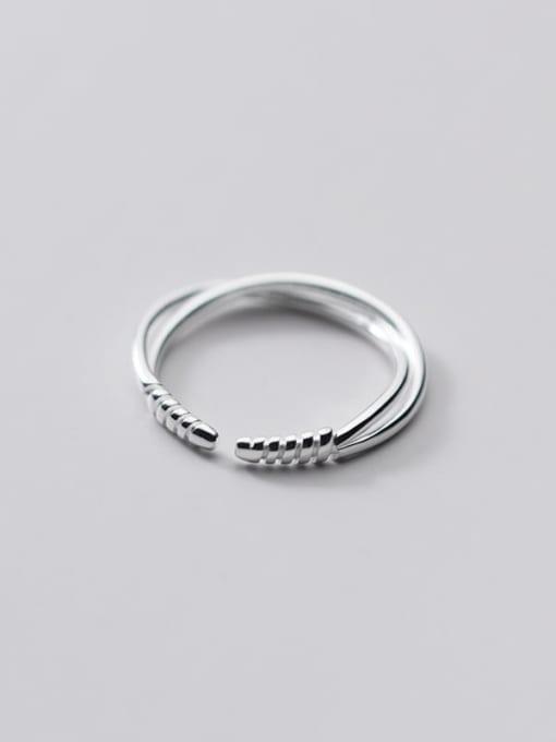 Rosh 925 Sterling Silver Irregular Minimalist Band Ring 1