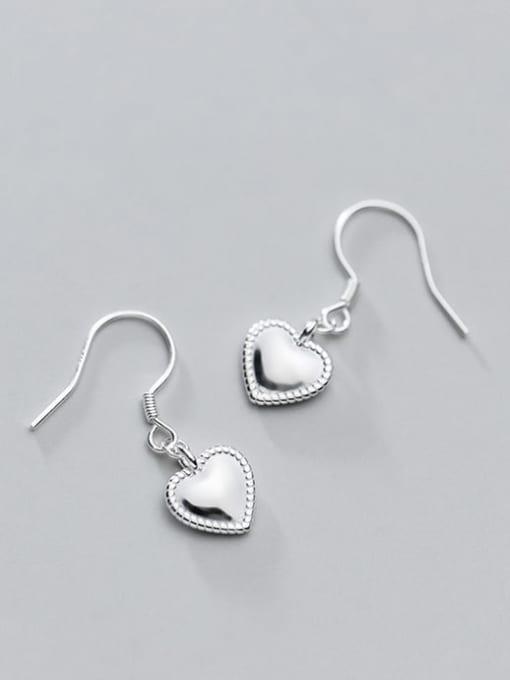 Rosh 925 Sterling Silver Heart Minimalist Hook Earring 4