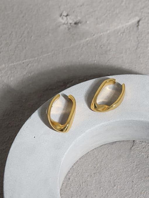 DAKA 925 Sterling Silver Smooth Geometric Minimalist Stud Earring 4