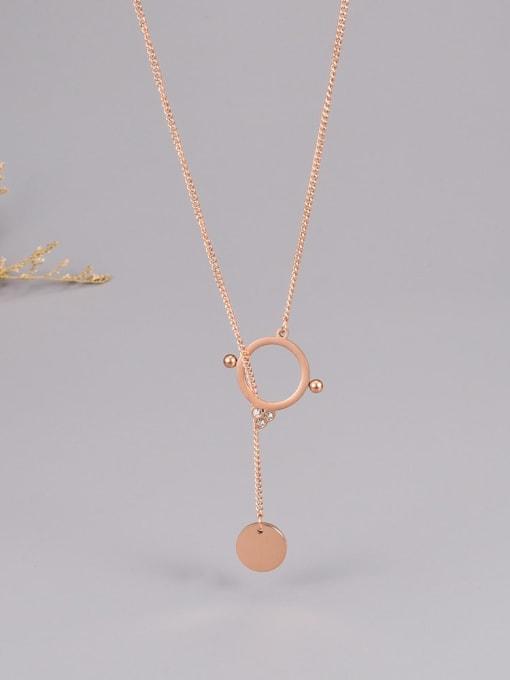 A TEEM Titanium Steel Tassel Minimalist Necklace 3