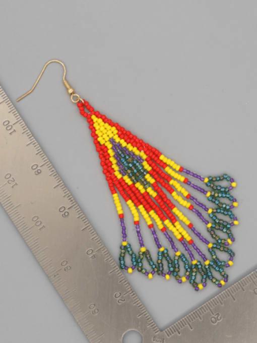 Roxi Stainless steel MGB  Bead Multi Color Tassel Bohemia Hook Earring 2