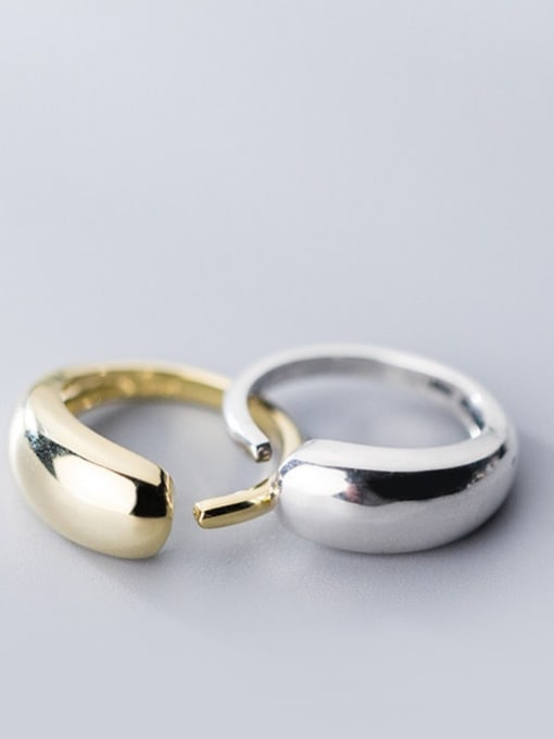 Rosh 925 Sterling Silver Smooth  Round Minimalist Band Ring