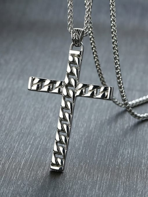 CONG Stainless steel Cross Minimalist Regligious Necklace 1