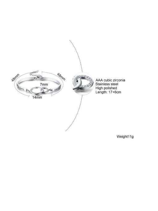 CONG Titanium Steel Hollow  Geometric Minimalist Bracelet 1