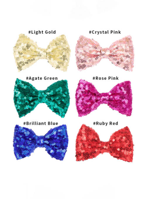 7 shallow 6 frosted bags Alloy Fabric Cute Bowknot  Multi Color Hair Barrette