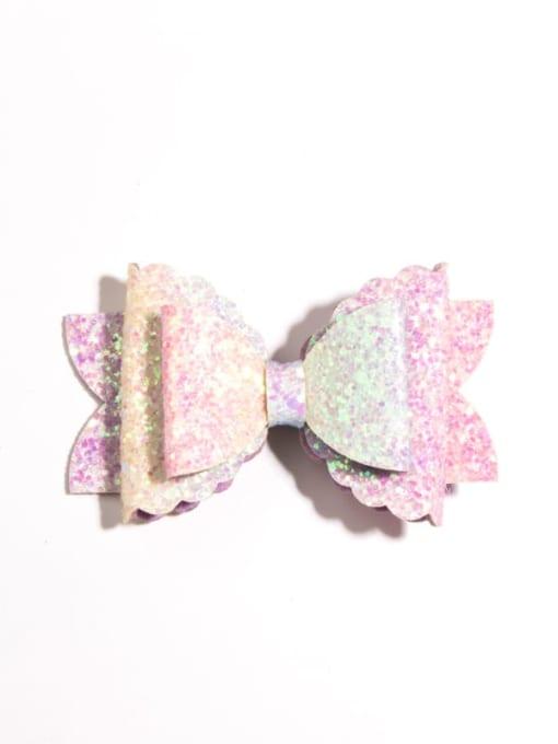 4 Fashion hairpin Alloy Fabric Cute Bowknot Multi Color Hair Barrette