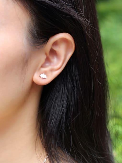 Rosh 925 Sterling Silver Cloud Minimalist Stud Earring 1