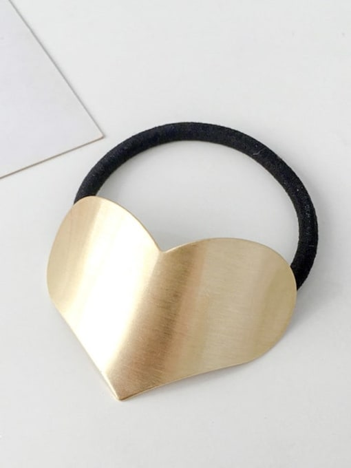 3 Gold love Rubber band Minimalist Geometric Alloy Hair Rope