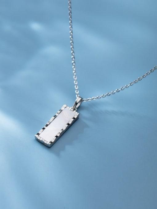 Rosh 925 Sterling Silver Shell Geometric Minimalist Pendant Necklace 3