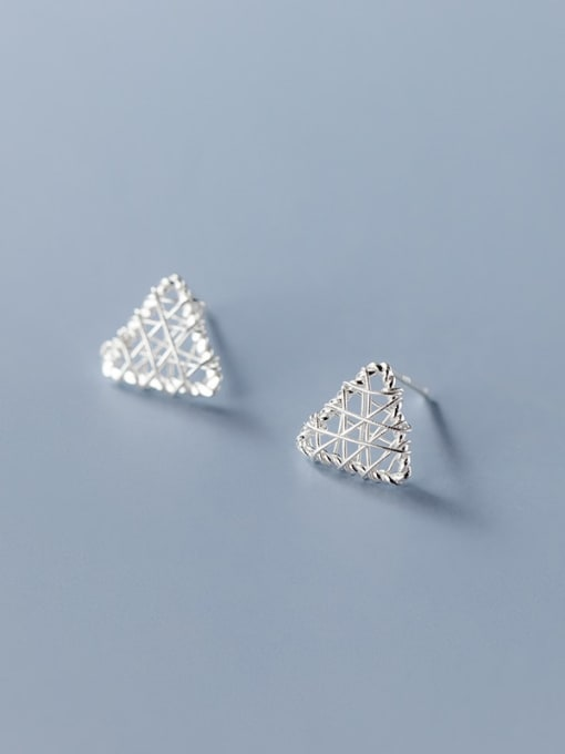 triangle 925 Sterling Silver Geometric Minimalist Stud Earring