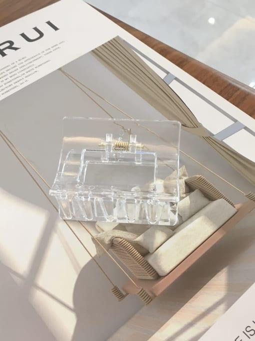 transparent color Cellulose Acetate Minimalist Medium square  Geometric Jaw Hair Claw