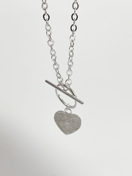 Boomer Cat 925 Sterling Silver Heart Vintage Necklace 0