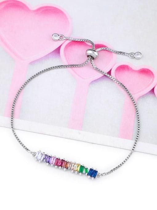 CC Alloy Cubic Zirconia Geometric Dainty Link Bracelet 3