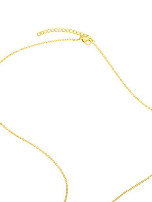 CC Brass Cubic Zirconia Simple LOVE letters Necklace 3