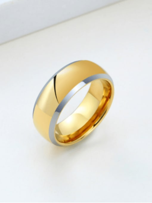 CONG Stainless steel Geometric Minimalist Band Ring