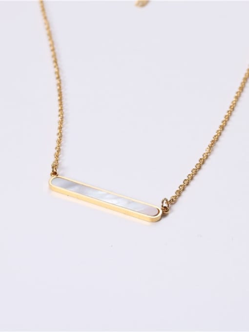 GROSE Stainless steel Shell Geometric Minimalist Necklace