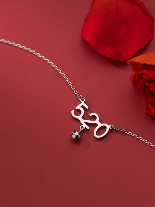 Rosh 925 Sterling Silver Number Minimalist Necklace 2