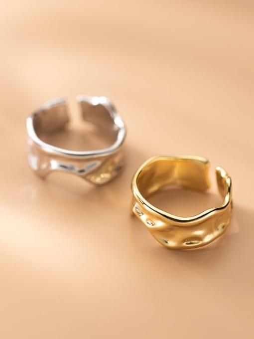 Rosh 925 Sterling Silver Geometric Minimalist Band Ring 0
