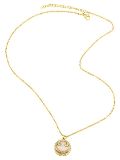 CC Brass Cubic Zirconia Heart Hip Hop Necklace 3
