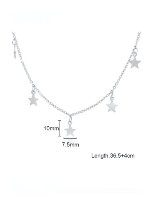 CONG Titanium Steel Smooth Star Minimalist Necklace 2