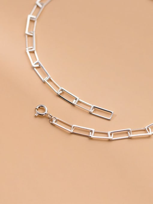 Rosh 925 Sterling Silver  Hollow Geometric Minimalist Anklet 3