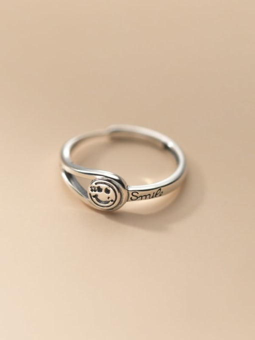 Rosh 925 Sterling Silver Smiley Vintage Band Ring 3