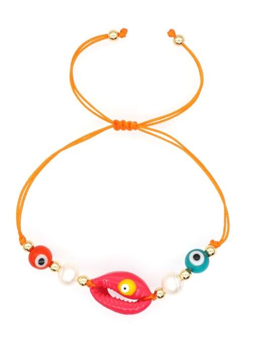Roxi Stainless steel Freshwater Pearl Multi Color Irregular Bohemia Adjustable Bracelet 3