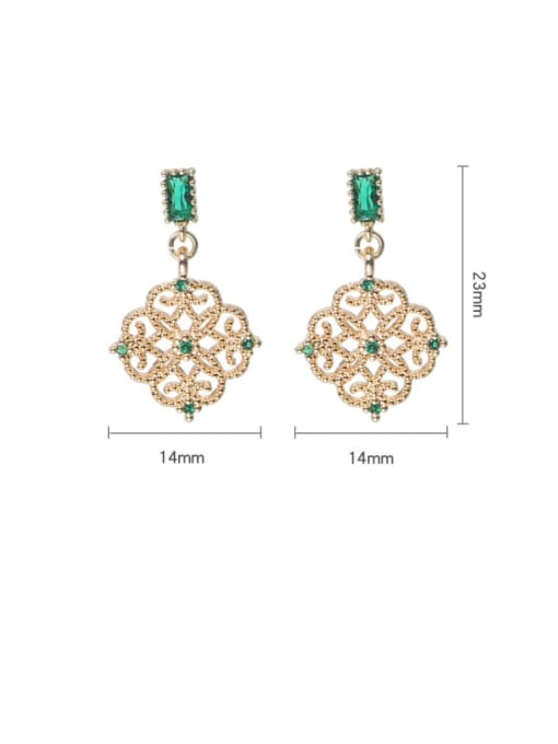 Gold 1 Brass Cubic Zirconia Tassel Cute Drop Earring
